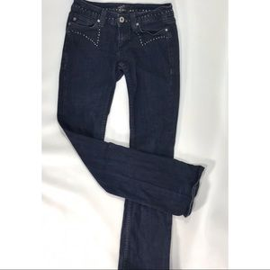 Miss Me Black Studded Boot Cut Jeans Size 28